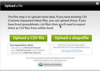 Uploading a shape file step 2