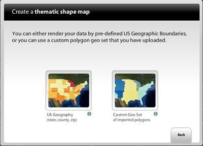 Figure 2 Below Shows The Mapping Wizard Where A User Selects If They Want To See Their Data Using Us Geographic Boundaries State County Zipcode Or
